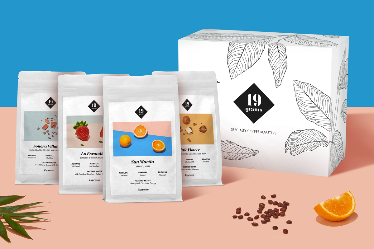 Philipp Carbotta 19 grams Coffee Packaging & Branding
